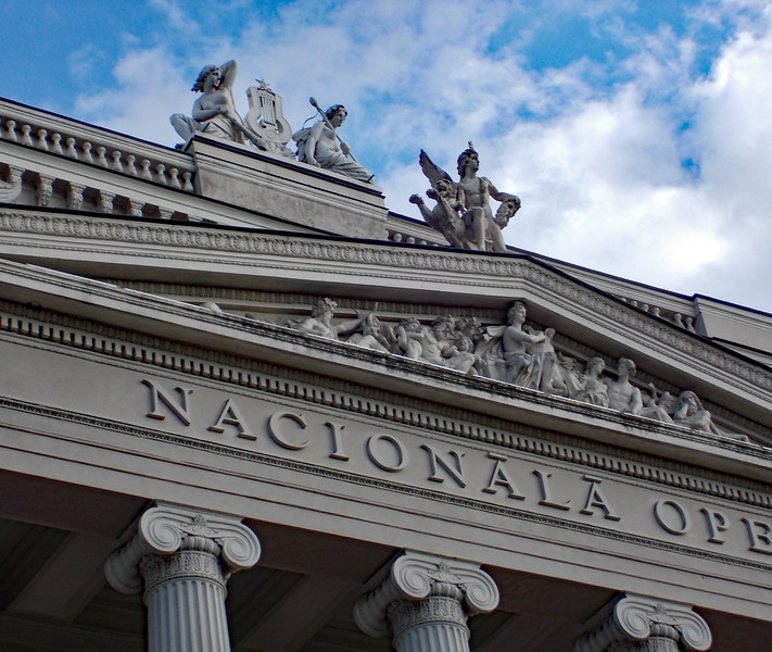 The Latvian Opera House in Riga was built in a neo-classical style in 1918
