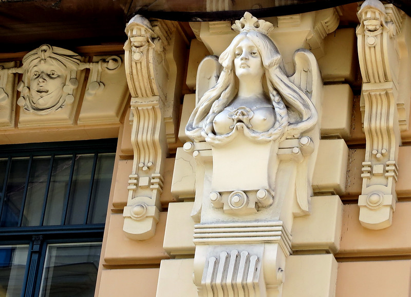 Riga, art nouveau combined functional and  decorative element
