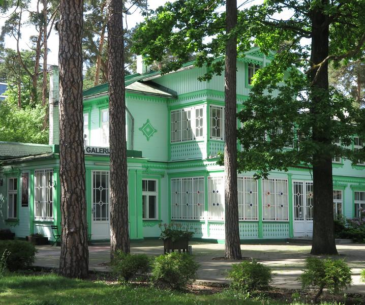 Jurmala historical wooden building, in schweitzer-style
