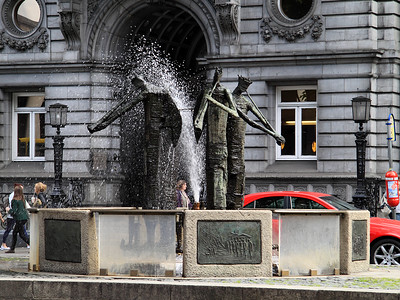 A Fountain And Trumpeters!
