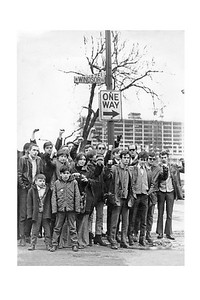 First Rising Up Angry Group Photo Shoot, Winter-Spring 1969