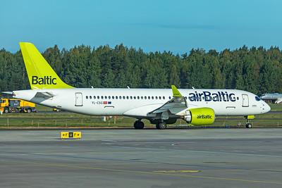 Air Baltic Airbus A220-300 YL-CSG 8-21-19 2