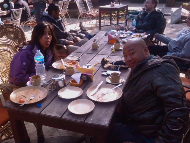 Breakfast in Pokhara