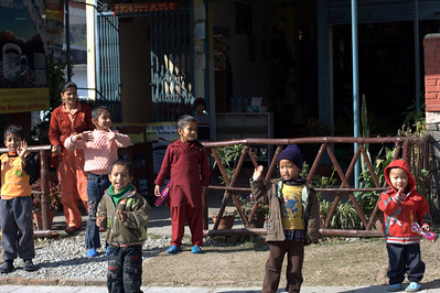 The kids in Nepal were *very* excited to see us