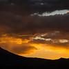 Evening cloud golw