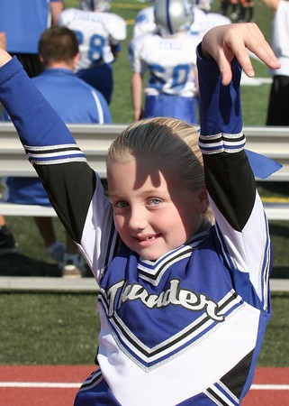 Mighty Mite Cheer Playoff Game Tigers