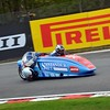 01.05.16 Oulton Park BSB Sidecars qualifying from inside of Lodge