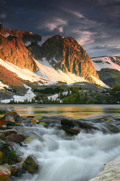 First Light at Lake Marie - Snowy Range, Medicine Bow National Forest, Wyoming - John Hewitt - July 2011