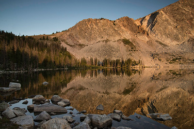 Sunrise on Lake Marie - Snowy Range, Medicine Bow National Forest, Wyoming - Roger Luft - August 2013