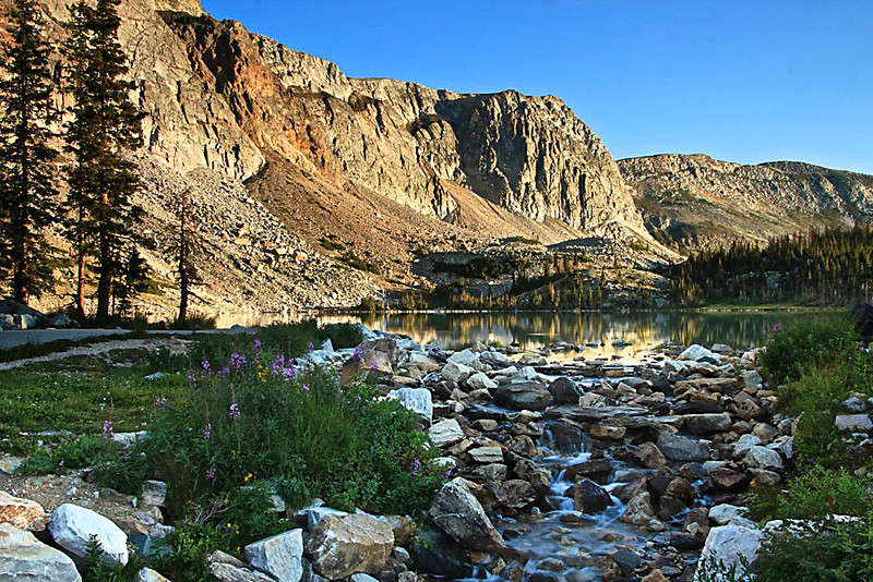 Early Morning at Lake Marie - Snowy Range, Medicine Bow National Forest, Wyoming - Sandy Reed - August 2013