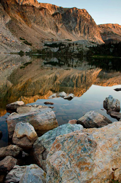 Lake Marie at Sunrise - Snowy Range, Medicine Bow National Forest, Wyoming - Jenny Cummings - August 2013