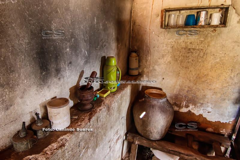 Cozinha de casa de interior
