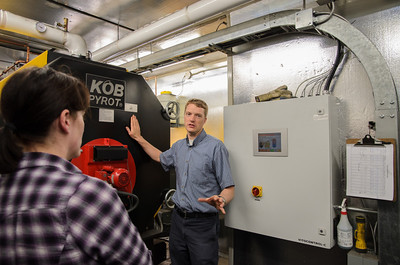 David describes the operations of the wood pellet burner that heats the UNBC greenhouse and laboratory.