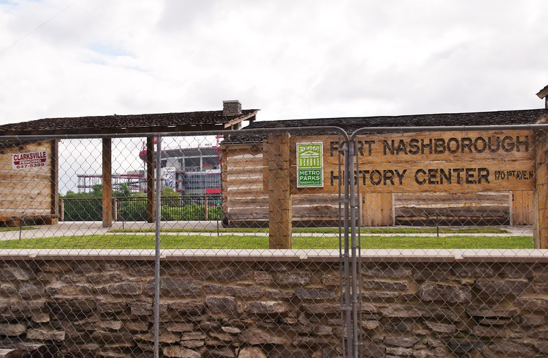 Nashville has a new Fort Nashborough... On the opposite side of the Cumberland.