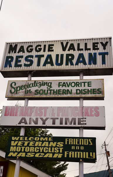 Ate breakfast at MAGGIE VALLEY RESTAURANT.<br /> WELCOME VETERANS MOTORCYCLIST NASCAR FRIENDS AND FAMILY
