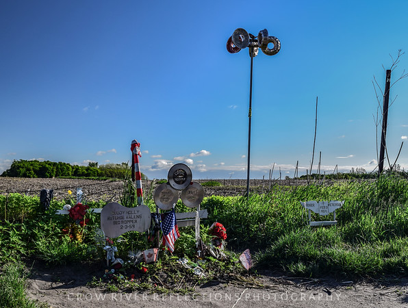 "Crash Site of Buddy Holly, Ritchie Valens, and J. P. ""The Big Bopper"" Richardson - Clear Lake, Iowa"