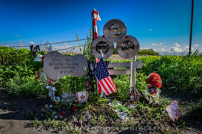 """Crash Site of Buddy Holly, Ritchie Valens, and J. P. """"The Big Bopper"""" Richardson - Clear Lake, Iowa"""