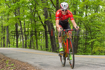 Joe Martin Stage Race - Stage 1. UCI Pro 1 Men. An Astellas Cycling Team (USA) rider makes his way up the switchback section of the course.