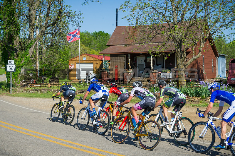 Joe Martin Stage Race  Stage 3.  UCI Pro 1 Men's Race. The breakaway works its way through some interesting parts of Arkansas.