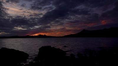 A sunset at Cape Hillsborough National Park.