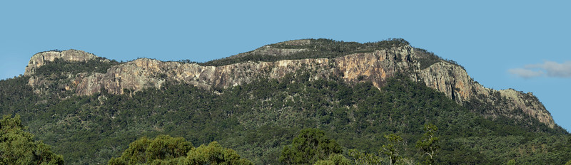 The Sydney Heads, in the late afternoon. At the Homevale NP, at Nebo, Central Queensland. Six shot pano.