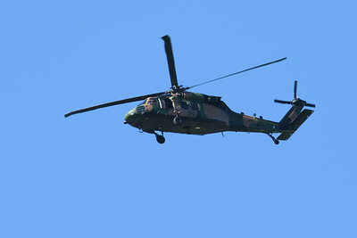 IMAGE TAKEN FROM THE FRONT PATIO, AS THE ARMY CHOPPER FLEW BY THE HOUSE.