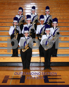 2014-2015 RTHS MARCHING BAND OUTSTANDING SECTION SMALL