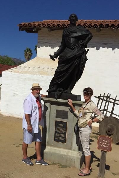KING CARLOS 111 OF SPAIN. AMERICAN REVOLUTIONARY WAR MEMORIAL.