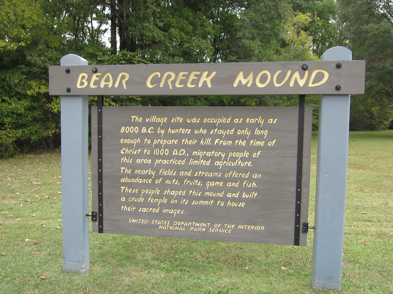 Many ancient Indian Mounds along the Trace.  Not as big as Cahokia.