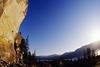 rock climbing at Skaha Bluffs, in Penticton, British Columbia, Canada