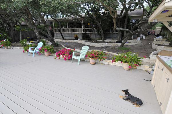 dock, Lulu, and limestone edging