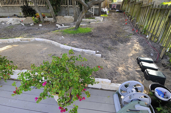 Burdick-side bed and valves before limestone edging