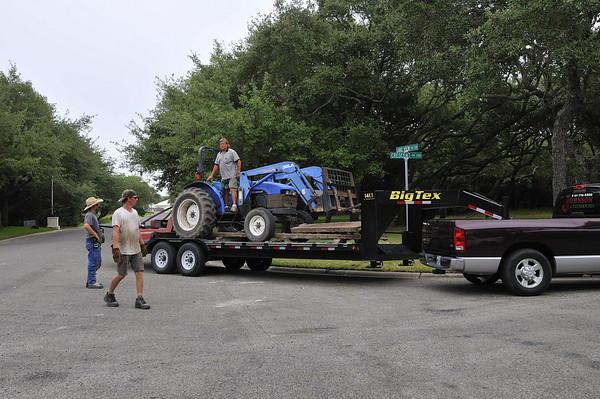 tractor loaded; Dustin, Jeff, Forest