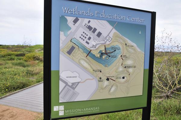 wetlands entry sign