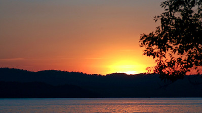 Sunset on Lake Coeur d'Alene, Idaho