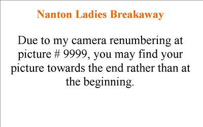 D - Nanton Ladies Breakaway Note