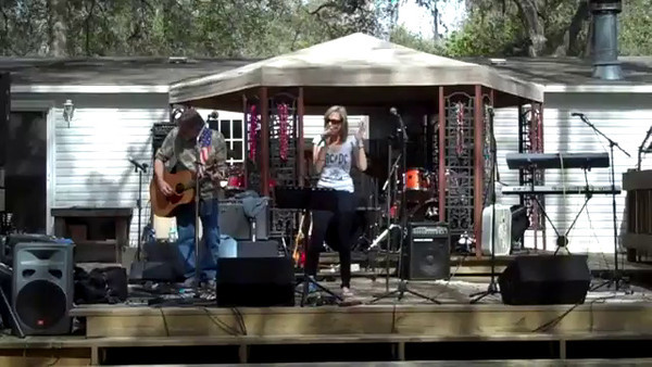 """A cover of Sugarlands """"Why Don`t You Stay""""  JC Vitte on acoustic guitar and Deb Bowen, vocals."""