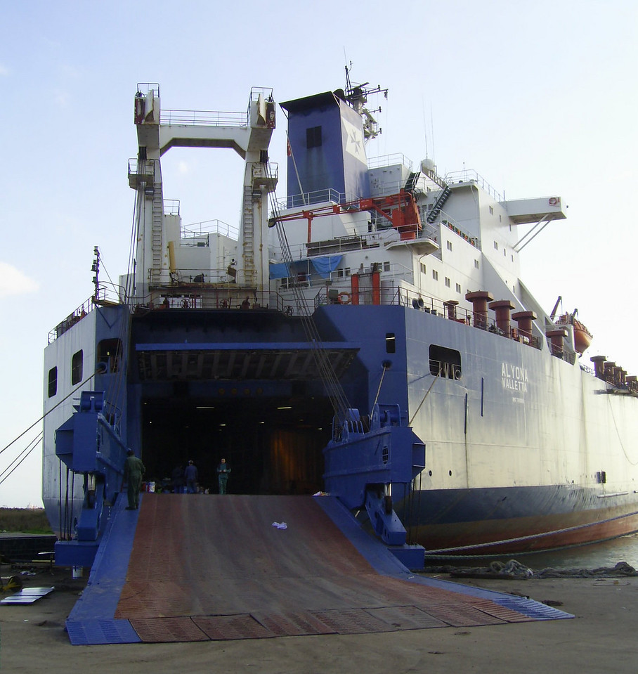 M/S ALYONA docked in Napoli due to maintenance works.