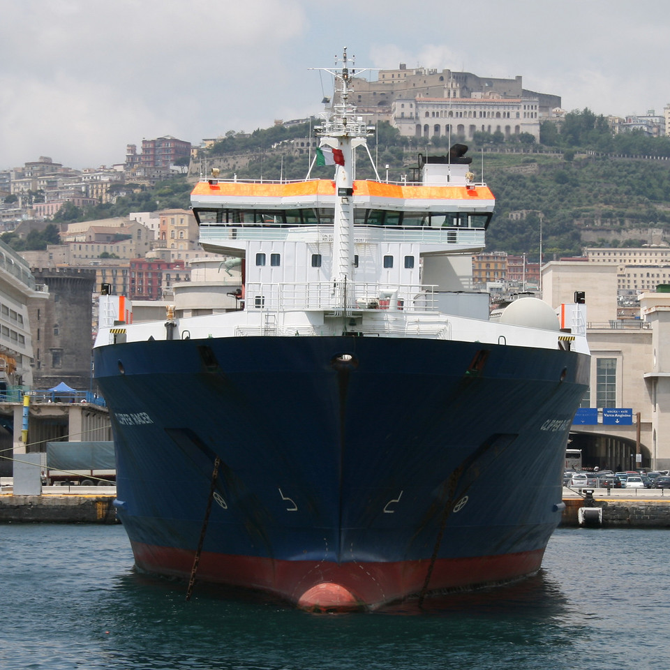 2010 - M/S CLIPPER RACER in Napoli chartered to SNAV to increase Napoli - Palermo route.