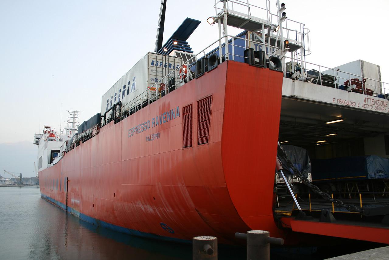 F/B ESPRESSO RAVENNA moored in Ravenna.