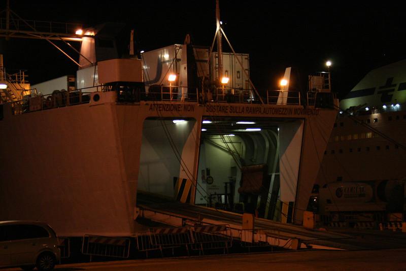 2008 - M/S LUIGI PA in Olbia at night.