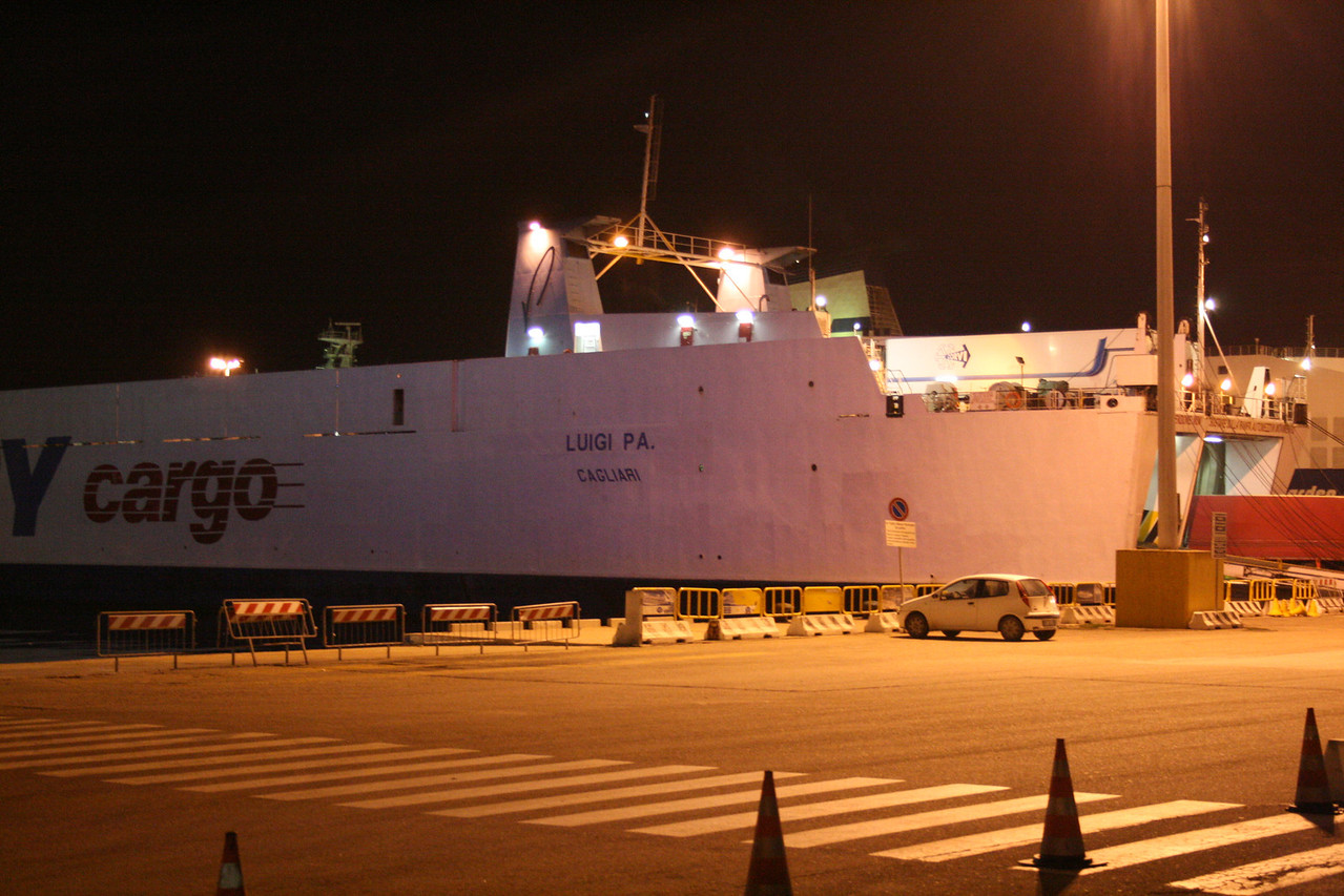 2008 - M/S LUIGI PA in Olbia at night.