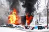 Heavy fire on arrival. FD still responding. Photo By: Adam Alberti
