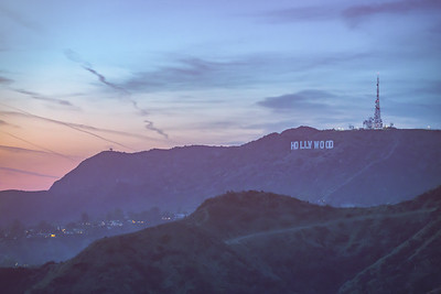 View of Hollywood Sign at Sunset