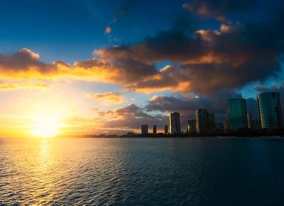 Hawaii Honolulu sunset