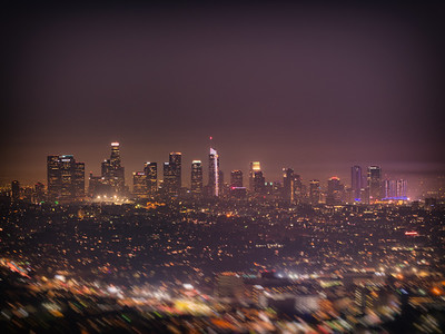 Los Angeles Downtown Skyline Night