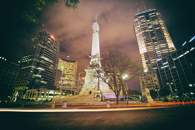 Indianapolis Downtown Monument Night