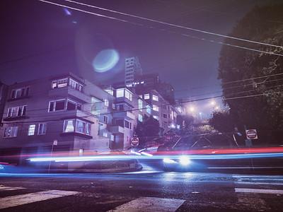 Bottom Lombard Street Night