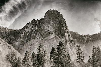 Yosemite Sentinel Rock B&W