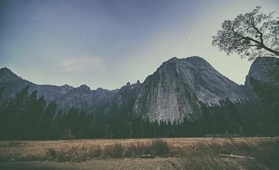 Yosemite Cathedral Rocks Wide Angle